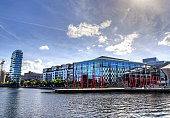 The Grand Canal Docks in Dublin, Ireland.