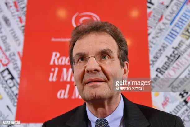 The Grand Chancellor of the Order of the Knigths of Malta Albrecht Boeselager gives a press conference on February 2 2017 in Rome / AFP / Alberto...