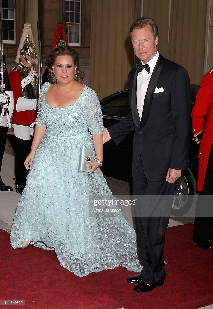 The GRand Duke and The Grand Duchess of Luxembourg attend a dinner for foreign Sovereigns to commemorate the Diamond Jubilee at Buckingham Palace on May 18, 2012 in London, England. Prince Charles, Prince of Wales and Camilla, Duchess of Cornwall hosted the event.