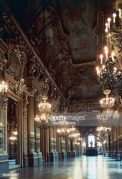 The Grand Foyer of the Palais Garnier 18601875 designed by Charles Garnier one of the venues of the Opera National de Paris Paris Paris IledeFrance...