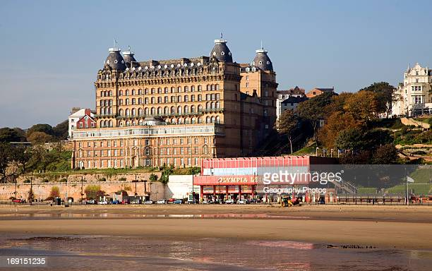 The Grand Hotel and seafront Scarborough Yorkshire England