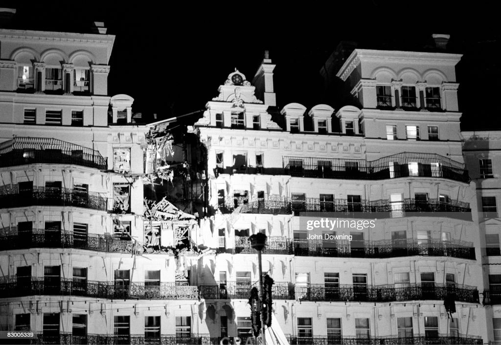 The Grand Hotel in Brighton, after a bomb attack by the IRA, 12th October 1984. British Prime Minister Margaret Thatcher and many other politicians were staying at the hotel during the Conservative Party conference, but most were unharmed.