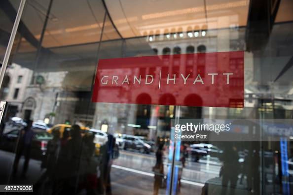 The Grand Hyatt hotel in Manhattan is viewed following the mistaken arrest of James Blake a retired top10 professional tennis player on September 10...
