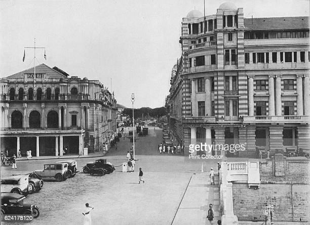The Grand Oriental Hotel and P O Building Ceylon' c1890 From The Hundred Best Views of Ceylon [Plâté Ltd Colombo Kandy Nuwara Eliya 1910] Artist...