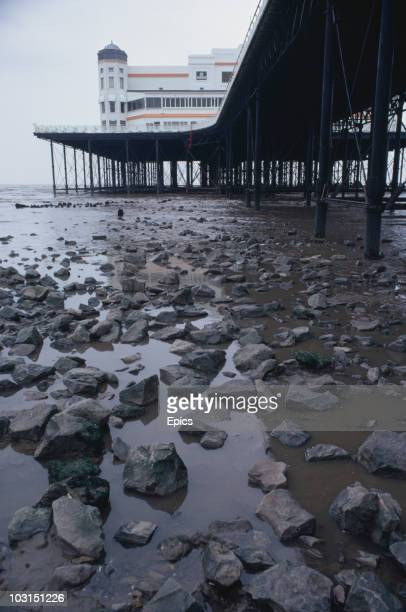 The Grand Pier at the seaside resort of WestonsuperMare in North Somerset April 1970 It burnt down in 2008 and was rebuilt