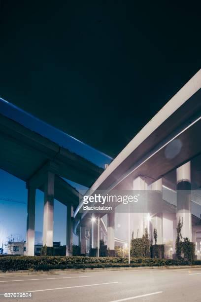 the grand Shanghai viaduct road