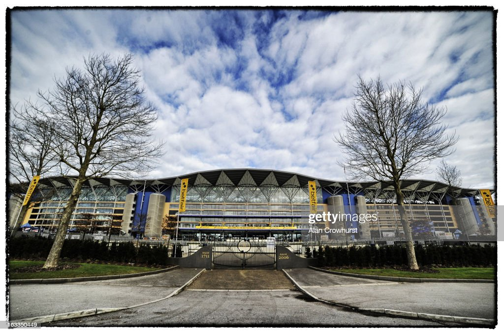 The grandstand at Ascot racecourse on February 16, 2013 in Ascot, England.