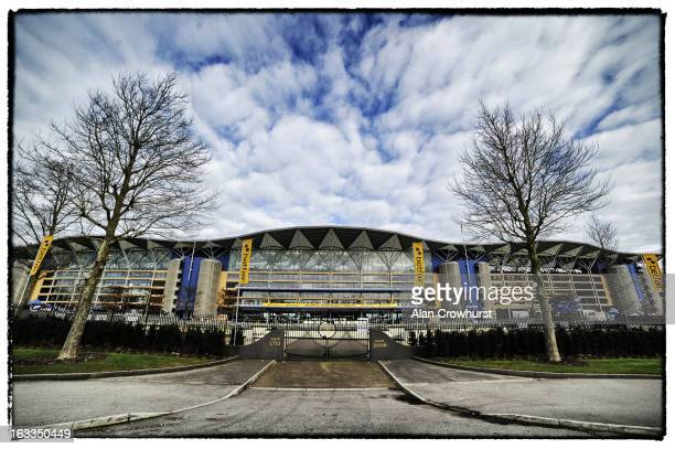 The grandstand at Ascot racecourse on February 16 2013 in Ascot England
