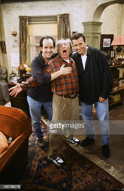 YOU 'The Grant' Episode 2 Pictured John Pankow as Ira Buchman Mel Brooks as Uncle Phil Paul Reiser as Paul Buchman Photo by Paul Drinkwater/NBCU...