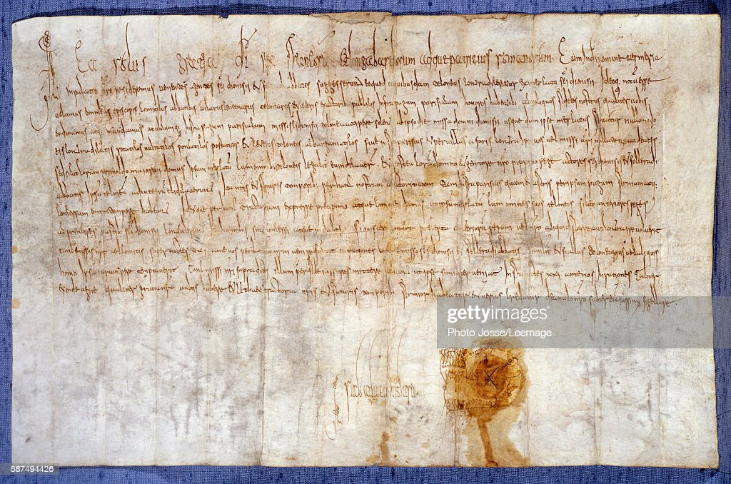 The grant from King Charlemagne of the domains of Luzarches and Messy to the Abbey of Saint Denis 25 February 775 National Archives Paris France