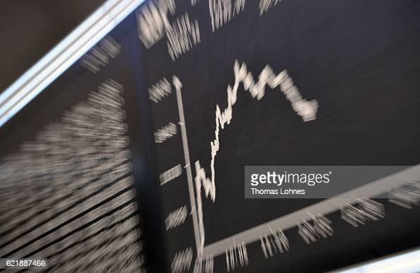 The graph showing the day's course of the DAX index at the Frankfurt Stock Exchange on November 9 2016 in Frankfurt Germany Stock markets around the...