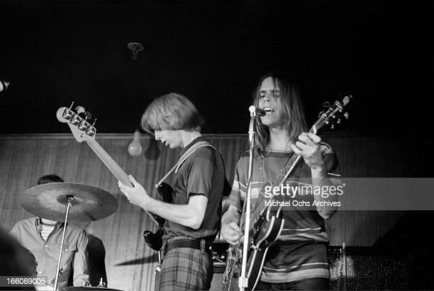 The Grateful Dead LR Bill Kreutzmann Phil Lesh and Bob Weir perform at the Cafe Au Go Go on June 8 1967 in New York City New York