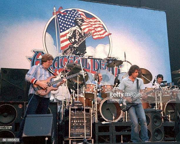 The Grateful Dead perform at the Greek Theater in Berkeley California on June 16 1985 Phil Lesh Bill Kruetzmann Bob Weir Mickey Hart