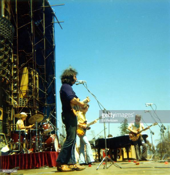 The Grateful Dead perform on May 25 1974 at Santa Barbara Stadium in Santa Barbara California with an early version of their Wall of Sound
