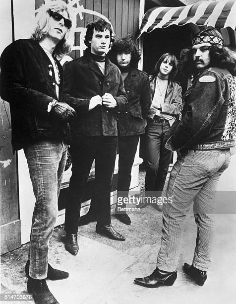 The Grateful Dead rock group standing Filed 4/8/72