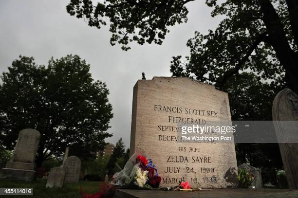 The grave marker of F Scott Fitzgerald and his wife Zelda Fitzgerald is seen at St Mary's Church Cemetery on Thursday May 09 2013 in Rockville MD F...