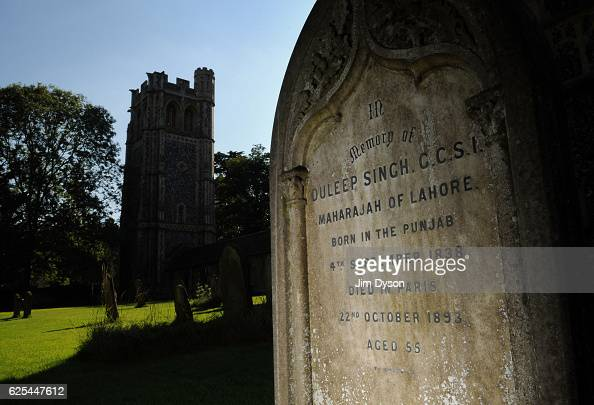 The grave of Duleep Singh the last Maharaja of the Sikh Empire at Elvedon Church on August 9 2010 in Elveden England Dead Famous is a journey through...