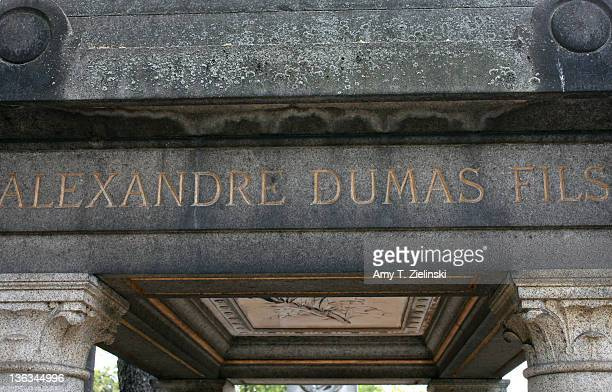 The grave of French author and dramatist Alexandre Dumas fils at Montmartre Cemetery Paris 27th May 2011