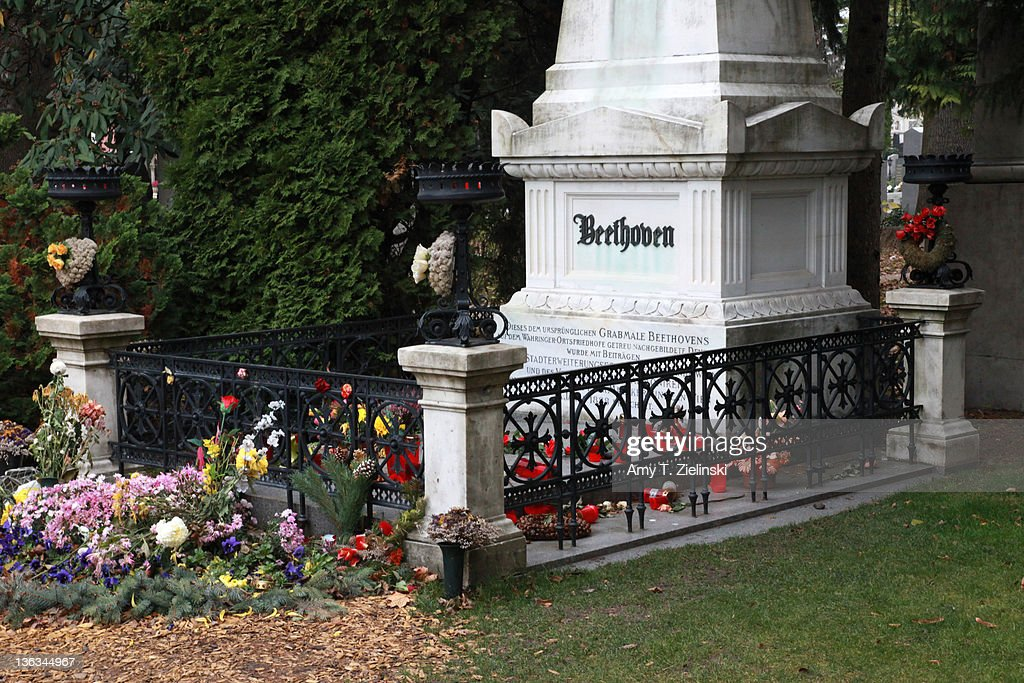 The grave of German composer Ludwig van Beethoven (1770 - 1827) in the Zentralfriedhof cemetery, Vienna, Austria, 17th November 2010.
