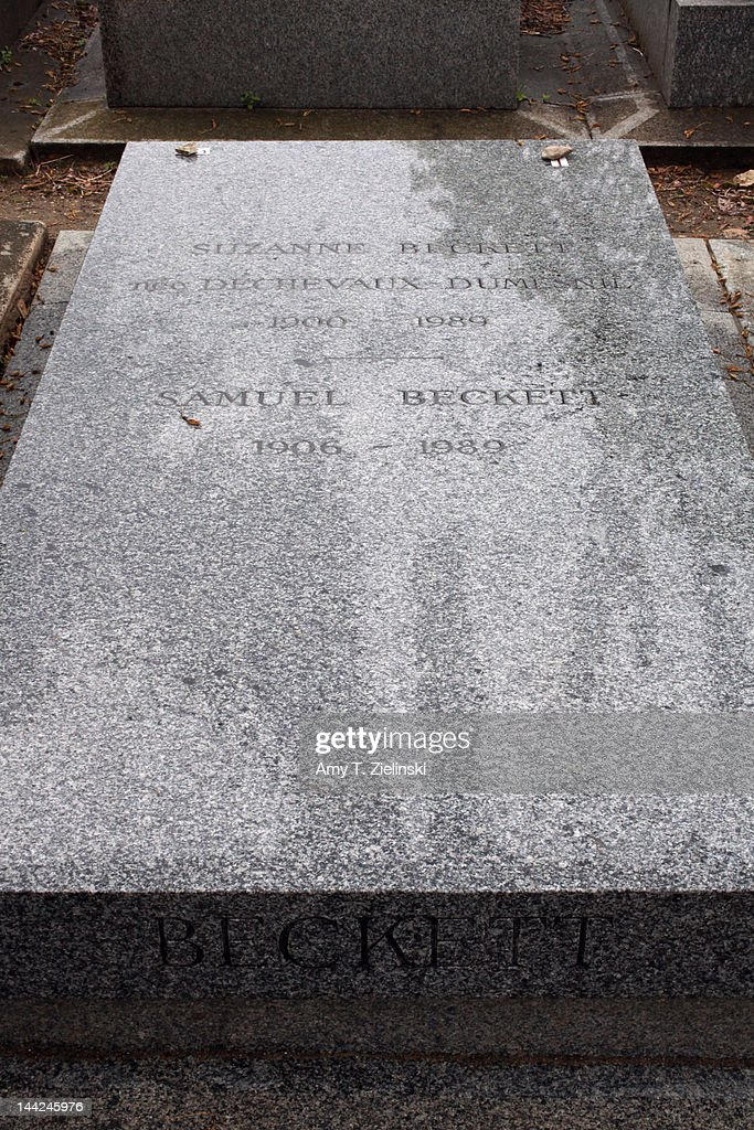 The grave of Irish avant-garde author and poet Samuel Beckett (1906 - 1989) at Montparnasse Cemetery, Paris, 27th April 2012.