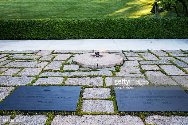The grave of John F Kennedy in Arlington Cemetery