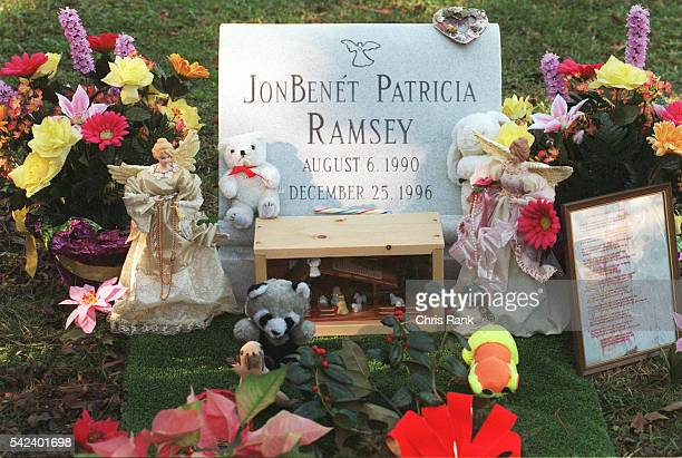 The grave of JonBenet Ramsey it is still not known who murdered her