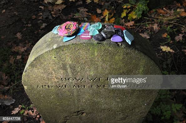 The grave of musician Nick Drake at St Mary Magdalene Churchyard on September 28 2010 in TanworthinArden England Dead Famous is a journey through the...