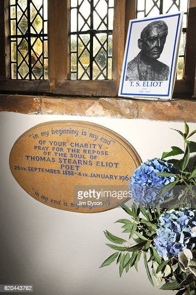 The grave of Poet Thomas Stearns 'TS' Eliot at St Michael and All Angels Church on November 11 2009 in East Coker England Dead Famous is a journey...