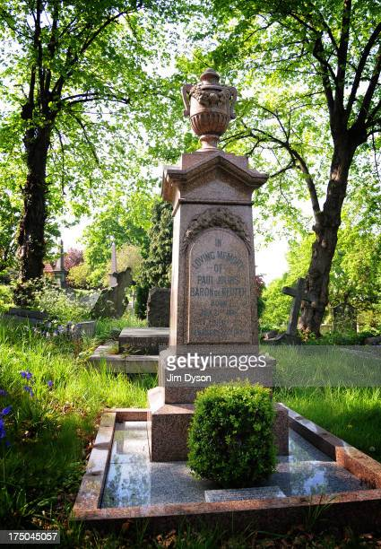 The grave of Reuters founder PAUL REUTER at West Norwood Cemetery on May 7 2008 in London England Dead Famous London is a journey through the...