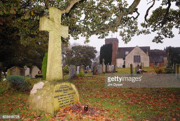 The grave of Sir Arthur Conan Doyle at All Saints Churchyard on November 10 2009 in Minstead England Dead Famous is a journey through the country's...
