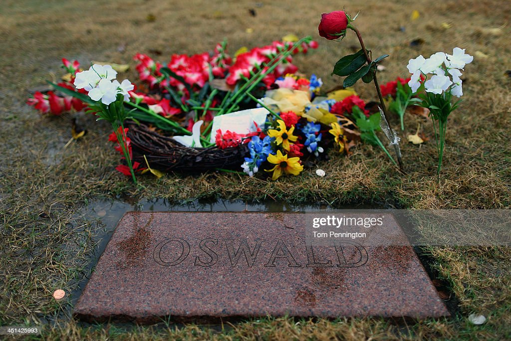The grave site of Lee Harvey Oswald at Shannon Rose Hill Funeral Chapel and Cemetery is seen on November 22, 2013 in Fort Worth, Texas. Visitors streamed through the grave site on the 50th anniversary of the assassination of U.S. President John F. Kennedy as he rode in a Presidential motorcade in Dealey Plaza.