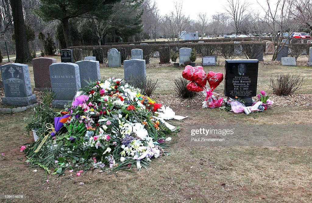 The grave site of singer Whitney Houston and her father John Russell Houston Jnr located in the East Ridge section of the Fairview Cemetery on February 20, 2012 in Westfield, New Jersey. The singer who was found dead in her hotel room at The Beverly Hilton hotel on February 11, 2012 has been buried close to her father John, who died in 2003.