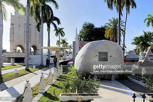 The grave that holds the ashes of Cubas Revolution leader Fidel Castro at the Santa Ifigenia cemetary on December 4 in Santiago de Cuba Cuba Cubas...