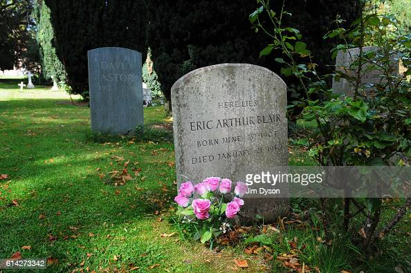 The graves of author Eric Arthur Blair better known as George Orwell and publisher David Astor at All Saints' Church Sutton Courtenay on September 21...