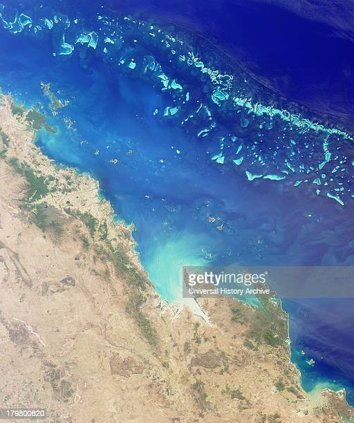 The Great Barrier Reef along the northeastern coast of Australia August 26 2000