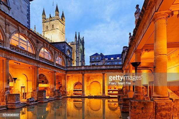 The Great Bath, Roman Baths and Bath Abbey