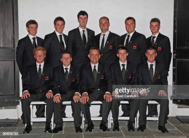 The Great Britain and Ireland Team at the Opening Ceremony held inside due to poor weather Luke Goddard Stiggy Hodgson Colin Dalgleish Chris Paisley...