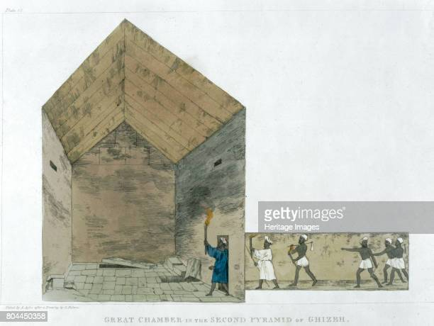 The Great Chamber in the Second pyramid of Ghizeh discovered by Giovanni Belzoni 18201822' Plate 12 from Plates Illustrative of the Researches in...