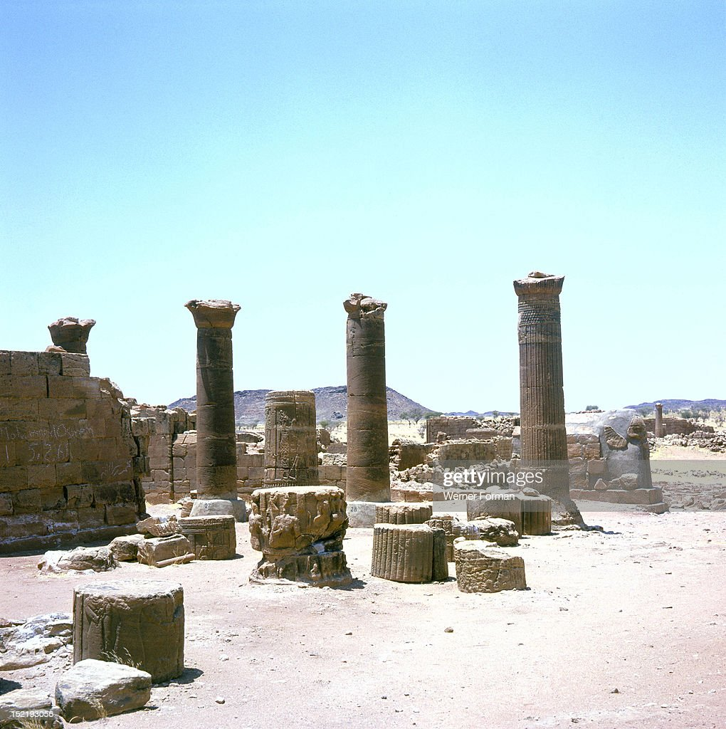 The great enclosure at the Meroitic temple complex of Musawarat-as-Safra, The great enclosure and its surrounding buildings are thought to be either a palace complex or a site for religious festivals. Sudan. Nubian. 300 BC - 100 AD. Meroe.