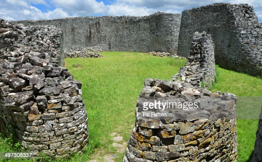 The great enclosure courtyard - Great Zimbabwe