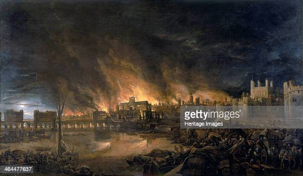 'The Great Fire of London 1666' Scene depicting the fire as it would have appeared between eight and nine o'clock on the evening of Tuesday 4th...
