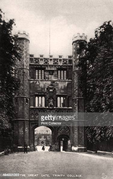 The Great Gate Trinity College Cambridge early 20th century