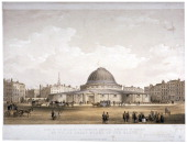 The Great Globe Leicester Square Westminster London c1855 View with a street scene Wyld's Globe was built in 1851 at the time of the Great Exhibition...