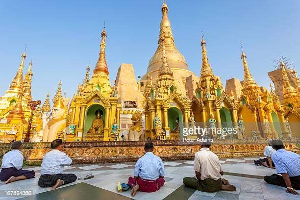 The Great Golden Stupa, Shwedagon Paya, Yangon
