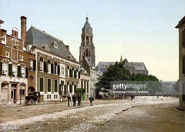 The great market Arnhem Holland between 1890 1900