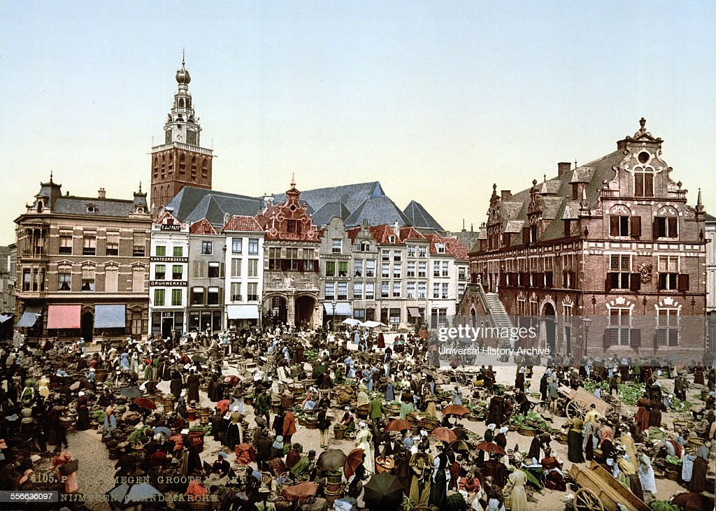 The great market Nymegen Holland [between ca 1890 and ca 1900] Photomechanical print photochrom