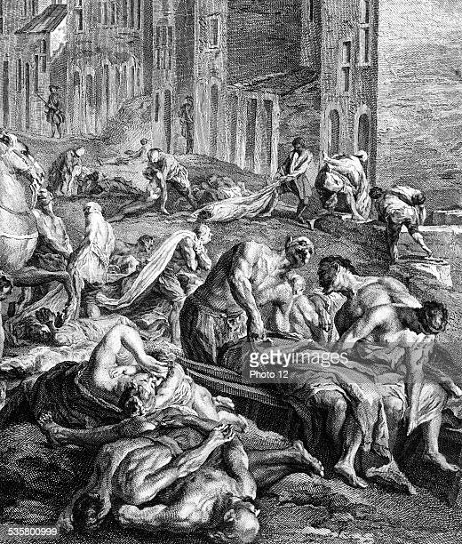 1720 The Great Plague in Marseilles Closeup This image is not downloadable Contact us for the high res