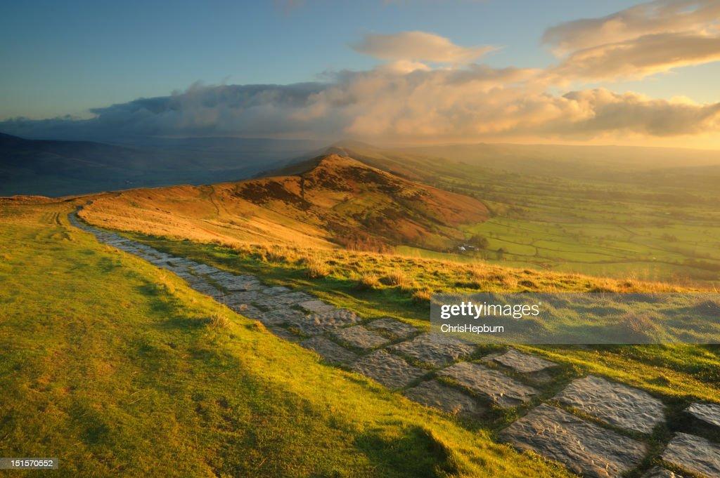 The Great Ridge, Peak District National Park : Stock Photo