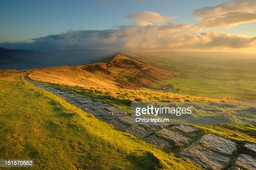 The Great Ridge, Peak District National Park : Stock Photo