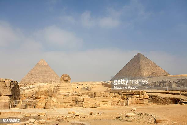 The Great Sphinx and Pyramids in Giza